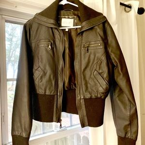 Delia's leather Bomber jacket